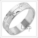 Snubní prsteny LSP 2080b bílé zlato
