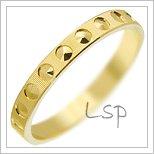 Snubní prsteny LSP 2081 žluté zlato