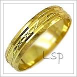 Snubní prsteny LSP 2082 žluté zlato