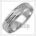 Snubní prsteny LSP 2082b bílé zlato