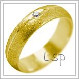 Snubní prsteny LSP 2085 žluté zlato