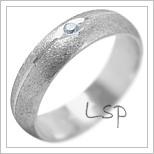 Snubní prsteny LSP 2085b bílé zlato