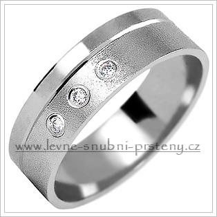Snubní prsteny LSP 2088b bílé zlato