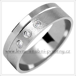 Snubní prsteny LSP 2088bz bílé zlato