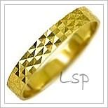 Snubní prsteny LSP 2089 žluté zlato
