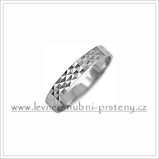 Snubní prsteny LSP 2089b bílé zlato