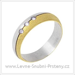 Snubní prsteny LSP 2090 kombinované zlato