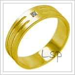 Snubní prsteny LSP 2092 žluté zlato
