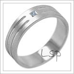 Snubní prsteny LSP 2092b bílé zlato