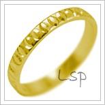 Snubní prsteny LSP 2094 žluté zlato