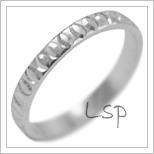 Snubní prsteny LSP 2094b bílé zlato