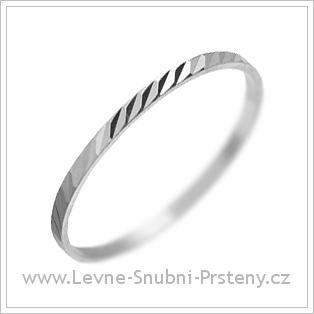 Snubní prsteny LSP 2096 bílé zlato