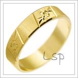 Snubní prsteny LSP 2104 žluté zlato