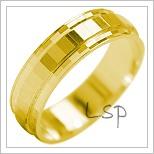 Snubní prsteny LSP 2105 žluté zlato