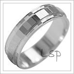 Snubní prsteny LSP 2105b bílé zlato