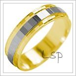 Snubní prsteny LSP 2105k kombinované zlato