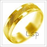 Snubní prsteny LSP 2108 žluté zlato