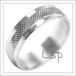 Snubní prsteny LSP 2108b bílé zlato
