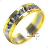 Snubní prsteny LSP 2108k kombinované zlato