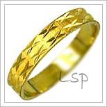 Snubní prsteny LSP 2109 žluté zlato