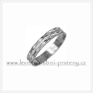 Snubní prsteny LSP 2109b bílé zlato