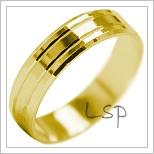 Snubní prsteny LSP 2110 žluté zlato