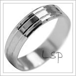 Snubní prsteny LSP 2110b bílé zlato