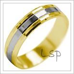Snubní prsteny LSP 2110k kombinované zlato