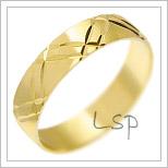Snubní prsteny LSP 2112 žluté zlato