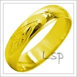 Snubní prsteny LSP 2113 žluté zlato