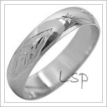 Snubní prsteny LSP 2113b bílé zlato