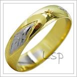 Snubní prsteny LSP 2113k kombinované zlato