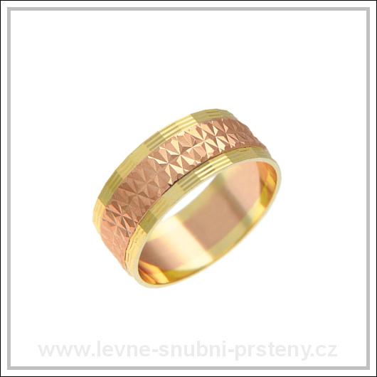 Snubní prsteny LSP 2114 kombinované zlato