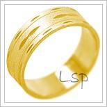 Snubní prsteny LSP 2116 žluté zlato