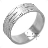 Snubní prsteny LSP 2116b bílé zlato
