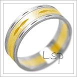 Snubní prsteny LSP 2116k kombinované zlato