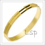 Snubní prsteny LSP 2120 žluté zlato