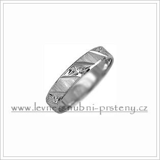 Snubní prsteny LSP 2121b bílé zlato
