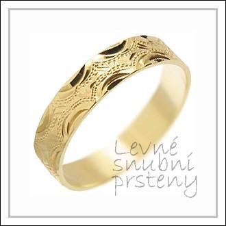 Snubní prsteny LSP 2122 žluté zlato