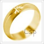 Snubní prsteny LSP 2124 žluté zlato