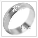 Snubní prsteny LSP 2124b bílé zlato