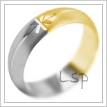 Snubní prsteny LSP 2124k kombinované zlato