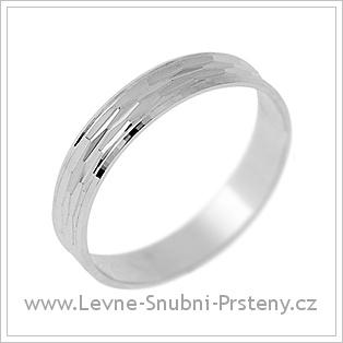 Snubní prsteny LSP 2125 - bílé zlato