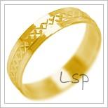 Snubní prsteny LSP 2126 žluté zlato