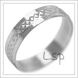 Snubní prsteny LSP 2126b bílé zlato