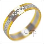 Snubní prsteny LSP 2126k kombinované zlato