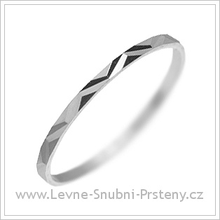 Snubní prsteny LSP 2127 bílé zlato