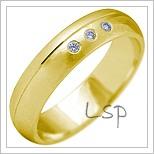 Snubní prsteny LSP 2128 žluté zlato