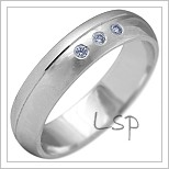 Snubní prsteny LSP 2128b bílé zlato