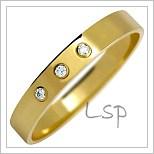 Snubní prsteny LSP 2129 žluté zlato s diamanty
